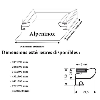 JOINT CADRE MAGNETIQUE ADAPTABLE ALPENINOX