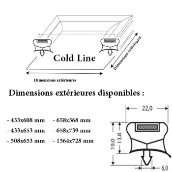 JOINT CADRE MAGNETIQUE ADAPTABLE COLD LINE