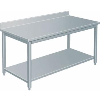 TABLE INOX PROFONDEUR 600 AVEC DOSSERET