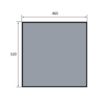 VITRE DE FOUR SPECIAL BATINOX-IBT 520X465 MM