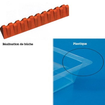GOUTTIERE A BUCHE PLASTIQUE - TRIANGLE DECALE