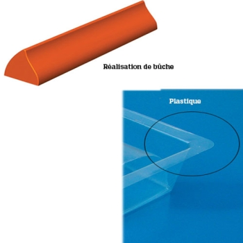 GOUTTIERE A BUCHE PLASTIQUE MODELE VAGUE