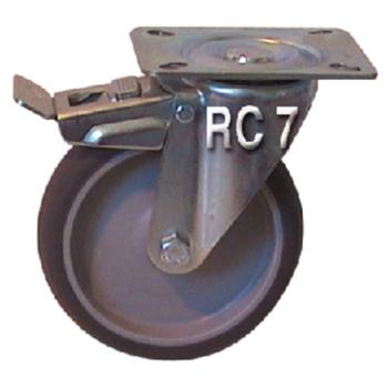 ROULETTE PIVOTANTE AVEC FREIN DIAMETRE 125 MM
