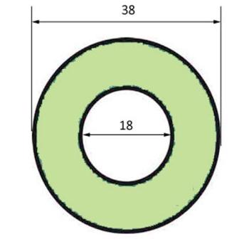 JOINT POUR APPAREIL A BUEE DIAMETRE EXTERIEUR 38 MM  POUR FOUR BONGARD