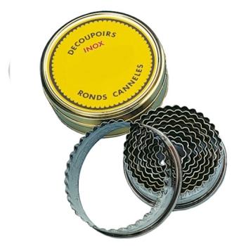 DECOUPOIR ROND CANNELE INOX