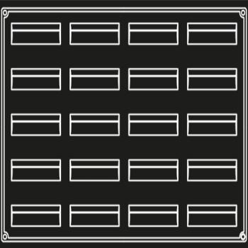 PLAQUE 20 BANDES VAGUES