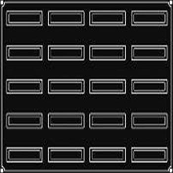 PLAQUE 20 BANDES INCLINEES