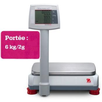 BALANCE DE COMPTOIR A COLONNE AVIATOR 7000 - Portée maximale 6 kgs