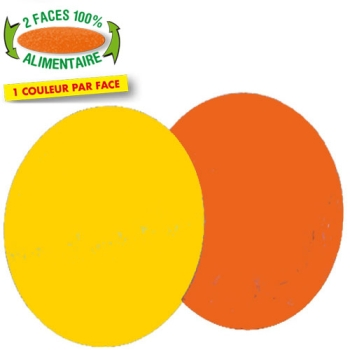 ROND ORANGE/JAUNE
