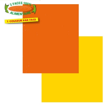 CARRES COULEUR ORANGE/JAUNE