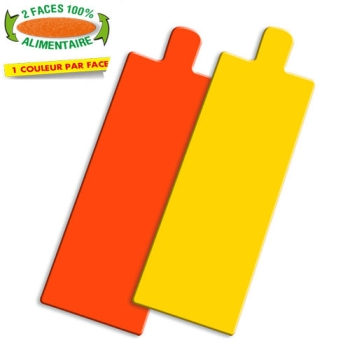 RECTANGLE LANGUETTE COULEUR ORANGE/JAUNE