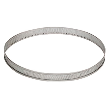 CERCLE INOX PERFORE - Hauteur 20 mm