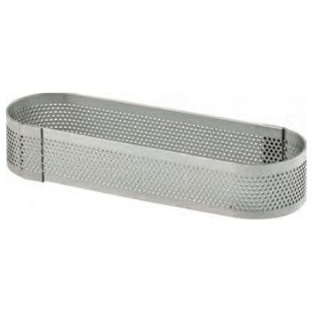 OBLONG INOX PERFORE - Hauteur 20 mm