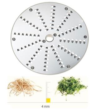 PLATEAU A RAPER INOX - 4 MM - DITO SAMA - pour coupe-légumes TRK - TRS - TR210