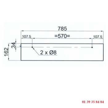VITRE DE FOUR 2 PERCAGES - Pour four COMPAGNON C 750