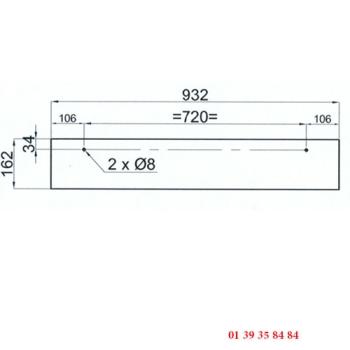 VITRE DE FOUR 2 PERCAGES - Pour four COMPAGNON C 900