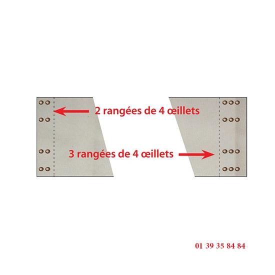 TOILE  ENFOURNEUR BONGARD EVO - Rangées de 4 oeillets
