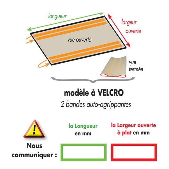 POCHE-BALANCELLE-REPOSE PATON- A VELCRO-SUR MESURE -2 bandes auto agrippantes