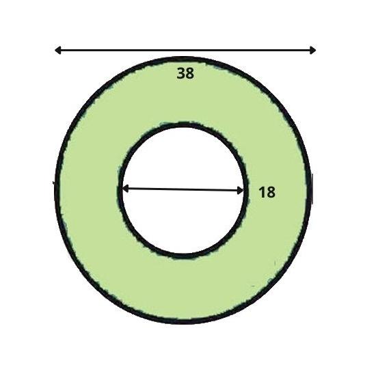 JOINT POUR APPAREIL A BUEE DIAMETRE EXTERIEUR 38 MM  ADAPTABLE FOUR BONGARD