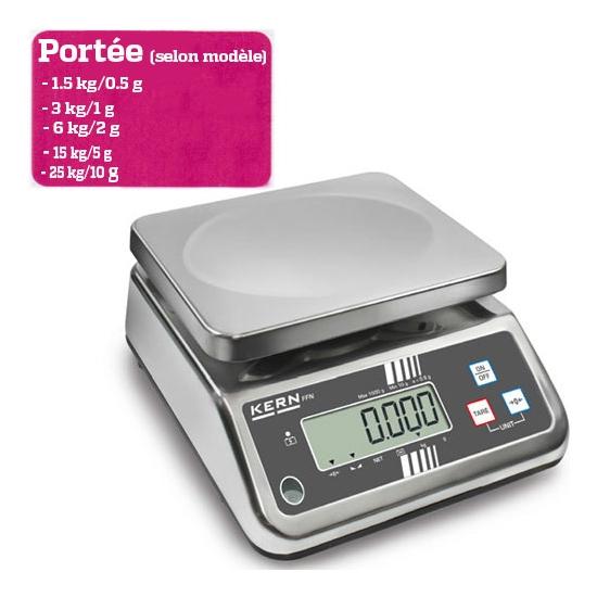 BALANCE  DE TABLE - Portée maximale 1.5 à 25 kg  - Lecture 0.5 à 10g selon modèle