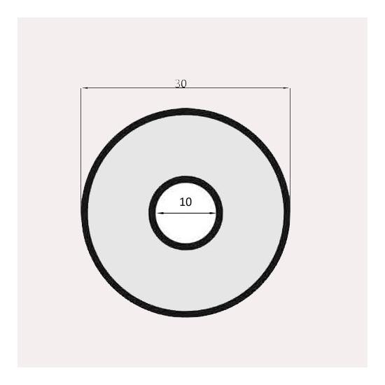 JOINT DE VITRE SEMI-PLEIN POUR FOUR REAL DIAMETRE 30 MM